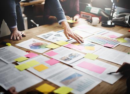 Zakenmensen Meeting Design Ideas Concept Stockfoto