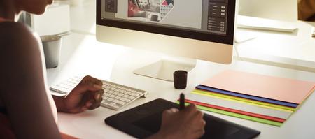 editor: Graphic Designer Creativity Editor Ideas Designer Concept