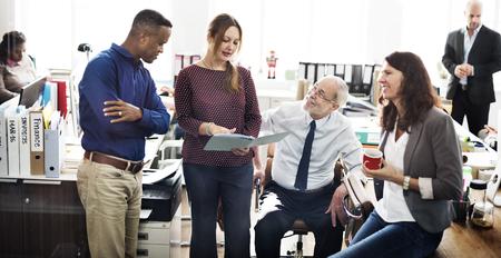 Business Team Working Office Worker Concept 版權商用圖片