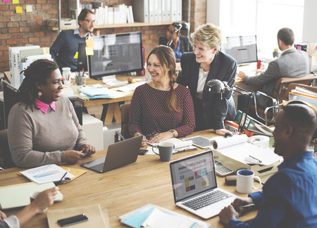 working office: Business Team Working Office Worker Concept Stock Photo
