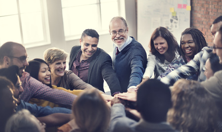 Schließen Sie sich Team Teamwork Hände Partnerschaftskonzept Standard-Bild
