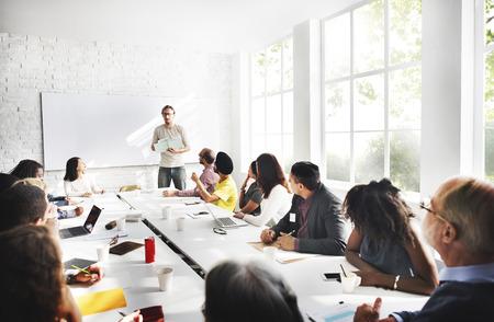 communicatie: Meeting Bedrijfsleven Connection Concept Stockfoto