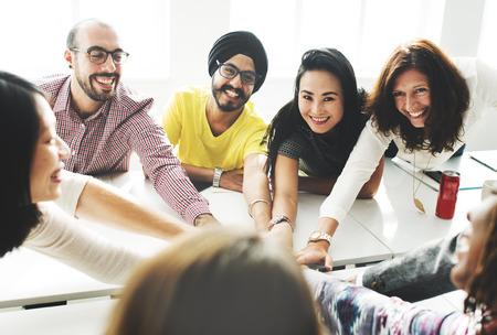 asian ethnicity: Cooperation Enjoying Participation Partnership Concept Stock Photo