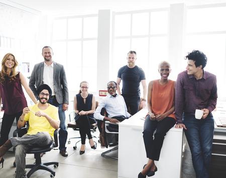 Cheerful Collaboration Colleagues Office Corpoare Conept
