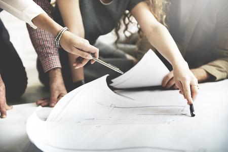 planen: Architekt Designprojekttreffen Diskussion Konzept
