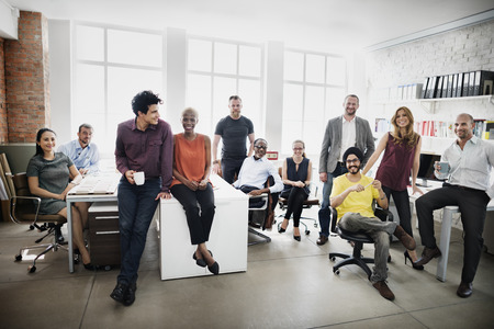 Business Team Professione, sul posto di lavoro Concetto