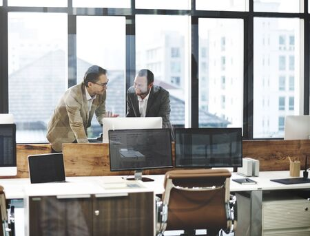 computer networking: Business People Meeting Discussion Working Office Concept