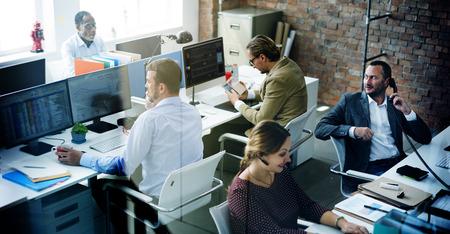 Geschäftsleute Treffen Diskussion Working Bürokonzept Standard-Bild
