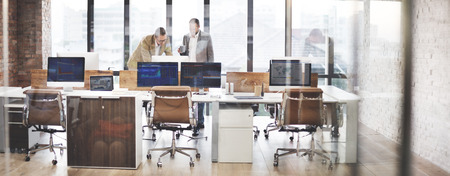 Business Team Busy Working Workplace Cocnept