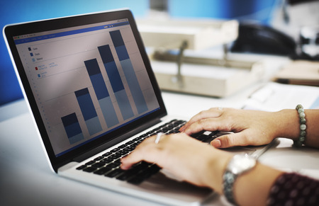 bookkeeping: Business Research Data Economy Statistics Concept Stock Photo