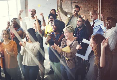 Team-Teamwork Meeting Success Konzept Glücklichsein Standard-Bild