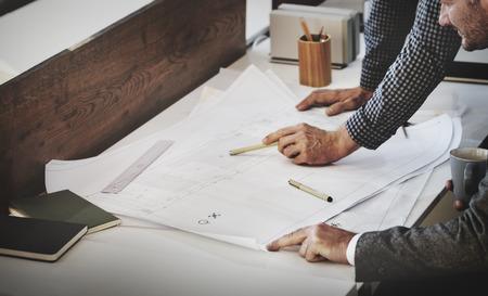 planung: Architekt Designprojekttreffen Diskussion Konzept