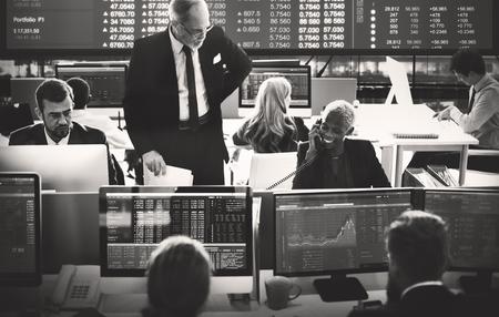 비즈니스 팀 투자 기업가 무역 개념