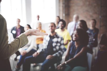 gente reunida: Concepto de audiencia de personas Reunión Seminario Conferencia