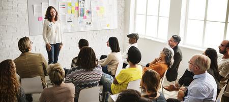 Design Team Meeting Presentation Creative Concept Zdjęcie Seryjne