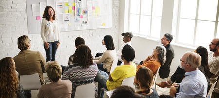 Réunion de conception Présentation de l'équipe Creative Concept Banque d'images