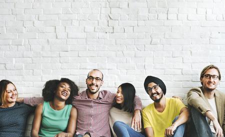 Mensen Diversiteit Vrienden Vriendschap Geluk Concept Stockfoto