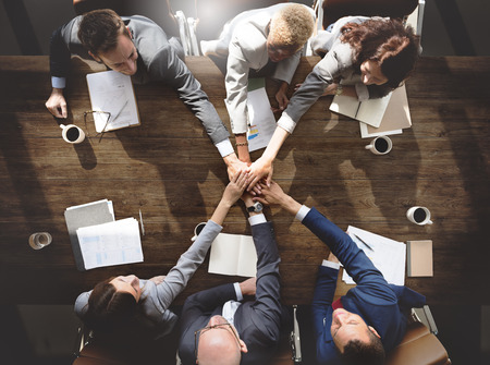 Business People Teamwork Collaboration Relation Concept Stock Photo