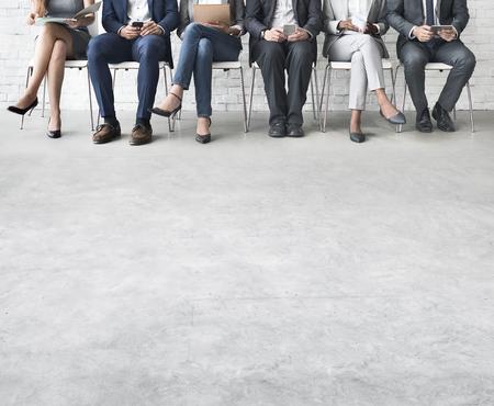 comunidad: Concepto de conexión de dispositivos de negocios Personas Corporate Meeting Digital Foto de archivo