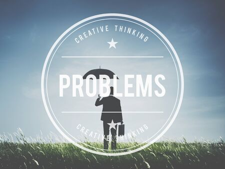 Problems Problem Solving Recession Solution Issue Concept Stock Photo