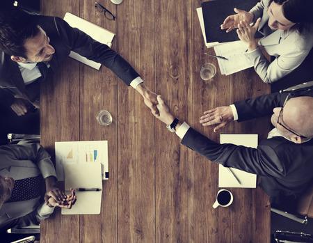 applaud: Business Team Meetng Handshake Applaud Concept Stock Photo