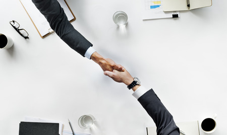 Business Team Meetng Handshake Applaud Concept Stockfoto
