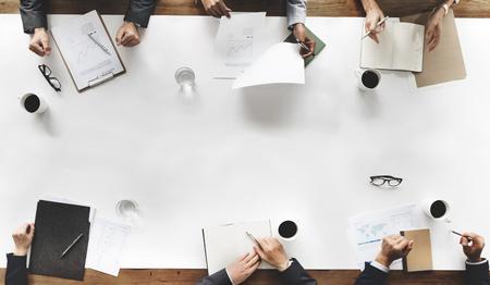 strategy: Concepto Estrategia de planificación de negocio de equipo meetng