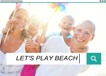lets: Lets Play Beach Summer Sand Sea Playful Happiness Concept