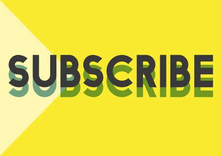 subscribe: Subscribe Follow Subscription Membership Social Media Concept Stock Photo