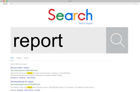 reporting: Report Reporter Reporting Information Presentation Concept
