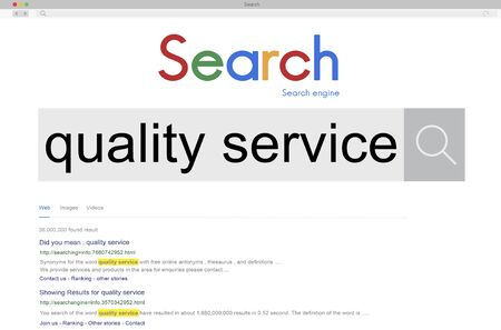 quality service: Quality Service Care Assistance Satisfaction Grade Concept