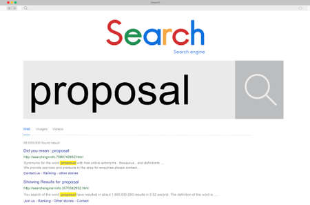 suggestion: Proposal Proposition Solution Strategy Suggestion Concept Stock Photo