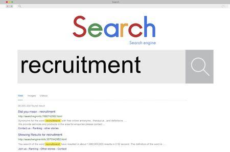Recruitment Human Resources Job Occupation Staff Concept