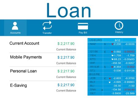 loaning: Loan Banking Accounting Budget Money Concept