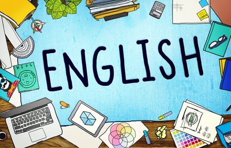 Inglés Británico Inglaterra Idioma Concepto de educación Foto de archivo - 53431458