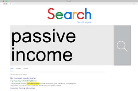 passive: Passive Income Budget Earning Economy Finance Concept