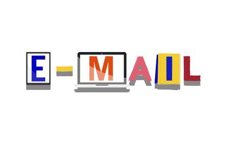 correspondence: Concepto de correo electrónico correspondencia Comunicación Online