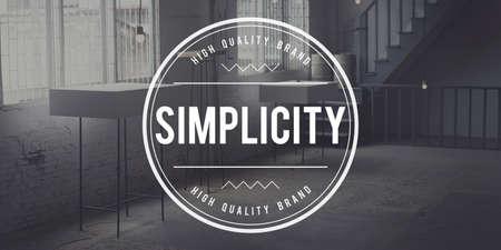 Simplicity Normal Minimal Contemporary Easiness Design Concept