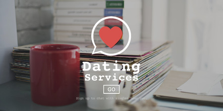 Blind Date: Dating Services Valentine Romance Heart Blind Date Concept Stock Photo