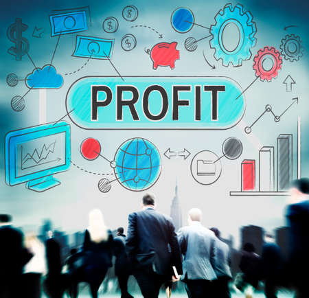 action fund: Profit Income Savings Banking Money Concept Stock Photo