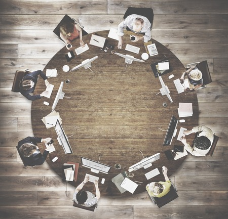 round collar: Business People Meeting Discussion Working Office Concept