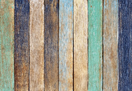 Colorful Wooden Plank Stock Photo