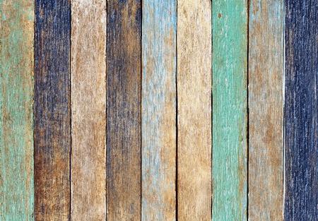 Colorful Wooden Plank Archivio Fotografico