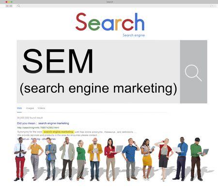 SEM Search Engine Marketing Business-Strategie-Konzept