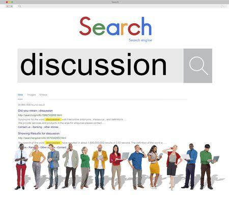 argumento: Argumento Discusi�n Discusi�n Debate Negociar Concept