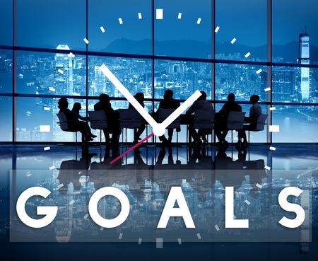 Obiettivi di aspirazione ispirazione Vision Concetto dell'obiettivo