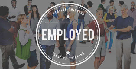 employer: Employed Employee Employer Employment Hiring Concept Stock Photo
