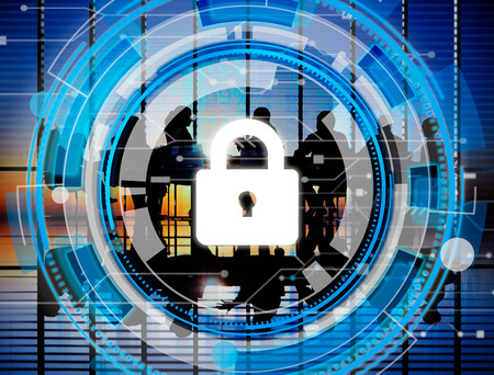 business security: Business Corporate Protection Safety Security Concept