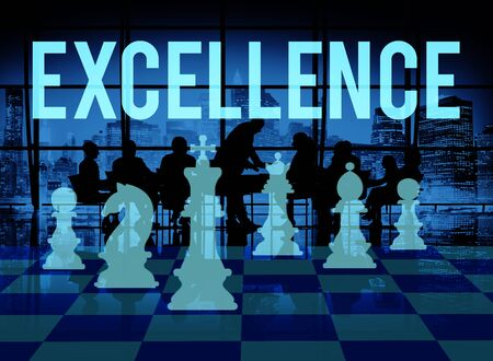 excellent: Excellence Excellent Good Intelligence Perfecetion Concept