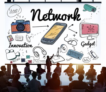 diversity domain: Network System Online Internet Web Concept